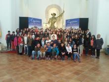 Alumnos del IES Alonso Quijada en la lectura del Quijote